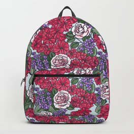 Chevron Floral Bright Backpack