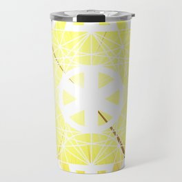 Metatron's Cube Time Wheel ~ Blast Off to Enlightenment Travel Mug
