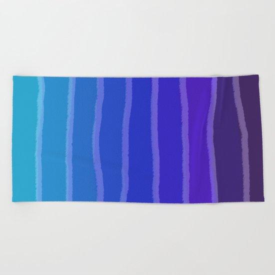 Vertical Color Tones #3 Beach Towel