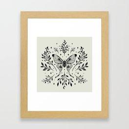 Mystical Luna Moth Framed Art Print