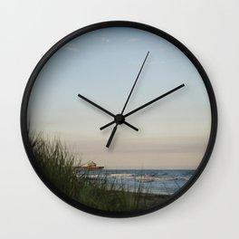 Folly Beach Pier Wall Clock