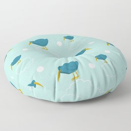 Kiwi birds on the clouds Floor Pillow