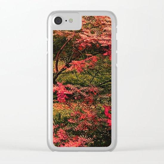 Autumn in the Garden 2 Clear iPhone Case