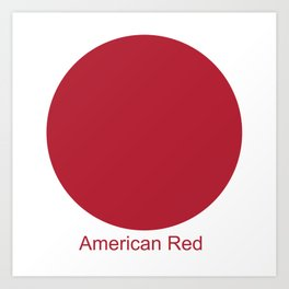 American Red Art Print