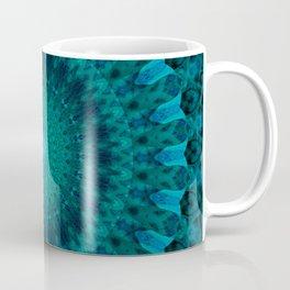 Light green and blue mandala Coffee Mug