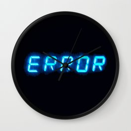 ERRORTRUTH Wall Clock