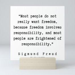 4  |   Sigmund Freud Quotes | 190926 Mini Art Print