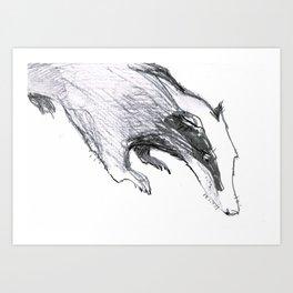The Badger Art Print