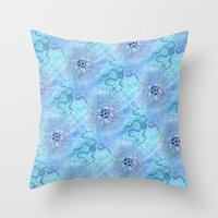 biology Throw Pillows featuring Marine Biology by Antique Images