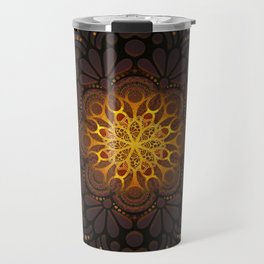 """Warm light Moroccan lantern Mandala"" Travel Mug"