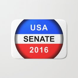 Vote Button Senate Bath Mat