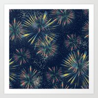 fireworks Art Prints featuring Fireworks! by LLL Creations
