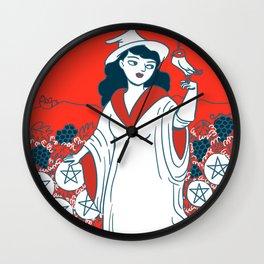 9 of Pentacles Wall Clock