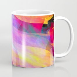 Colourful abstract with leaf shapes Coffee Mug