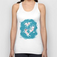soviet Tank Tops featuring Soviet Space Dogs by Gisela Beer