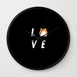 Funny Love Hamster Pun Quote Sayings Wall Clock