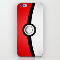 pokeball iPhone & iPod Skins featuring POKEBALL by Smart Friend