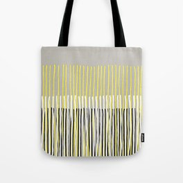 Yellow Rising - abstract stripes in yellow, grey, black & white Tote Bag