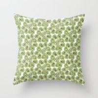 kiwi Throw Pillows featuring Kiwi by Sierra Neale