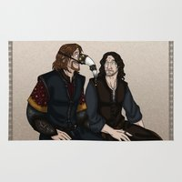 aragorn Area & Throw Rugs featuring Gondor Humour by wolfanita
