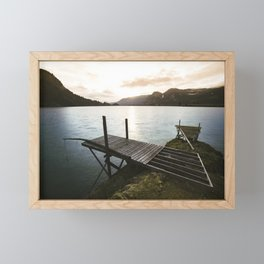 Salmon Sunrise Framed Mini Art Print