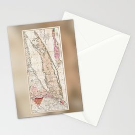 Long and Staten Island Map Stationery Cards