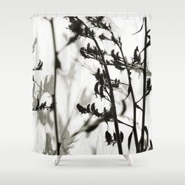 New Zealand Flax silhouettes Shower Curtain