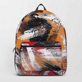 Abs orange black and white Backpack