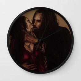 Dracula and Mina Wall Clock