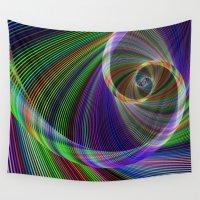 imagination Wall Tapestries featuring Imagination by David Zydd - Colorful Mandalas & Abstrac