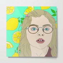 Lemon Drop Metal Print