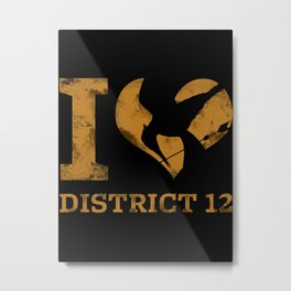 I LOVE DISTRICT 12 Metal Print