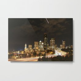 I-5 Seattle Metal Print