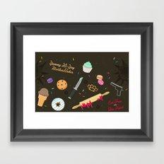 Die Hard Desserts Framed Art Print