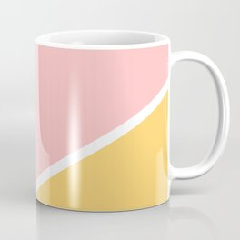 Tropical summer pastel pink turquoise yellow color block geometric pattern Coffee Mug