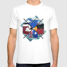 Down Under White MEDIUM Mens Fitted Tee