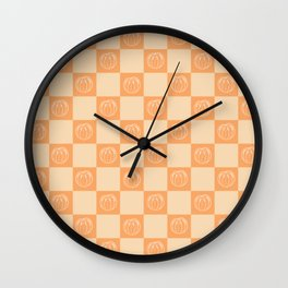 Tangerine Pattern Wall Clock