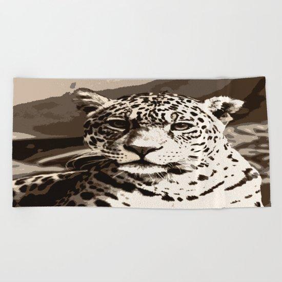 Big Cat Beach Towel