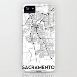 Minimal City Maps - Map Of Sacramento, California, United States iPhone Case