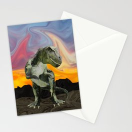Tyrannosaurus Rex at the Twilight Hour Stationery Cards