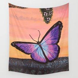 L'amour est un papillon Wall Tapestry