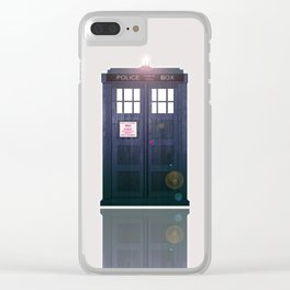 Tardis Shine Shadow Clear iPhone Case