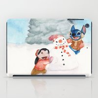 lilo and stitch iPad Cases featuring Lilo and Stitch by Walko