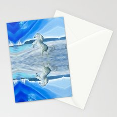 My Design - Beach with moon and horse Stationery Cards
