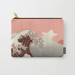 Japanese red sunset tsunami Carry-All Pouch