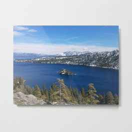 Inspiration Point at Emerald Bay Metal Print