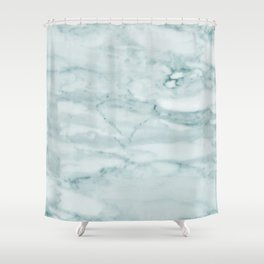 Marble Pale Teal Sea Green Marble Shower Curtain