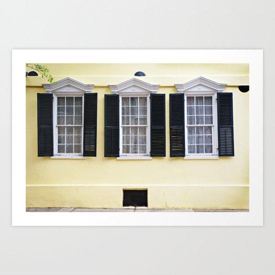 Sunny Charleston Windows Art Print