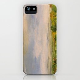 Scenic Autumn Late Afternoon in Vermont Nature Art Landscape Oil Painting iPhone Case