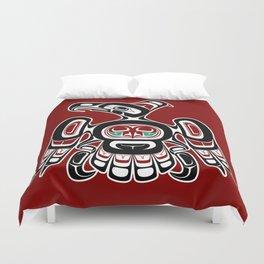 Northwest Pacific coast Kaigani Thunderbird Duvet Cover